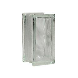 Pittsburgh Corning Bloc de verre modèle Decora Thinline, 4po x 8po x 3po  boîte de16