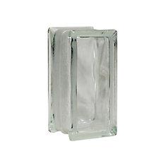 4 Inch x 8 Inch x 3 Inch Glass Block Decora Thinline Pattern, case of 16