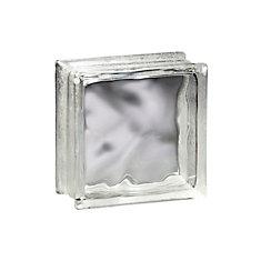 6 Inch x 6 Inch x 3 Inch Glass Block Decora Thinline Pattern, case of 16