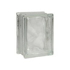 6 Inch x 8 Inch x 3 Inch Glass Block Decora Thinline Pattern, case of 12