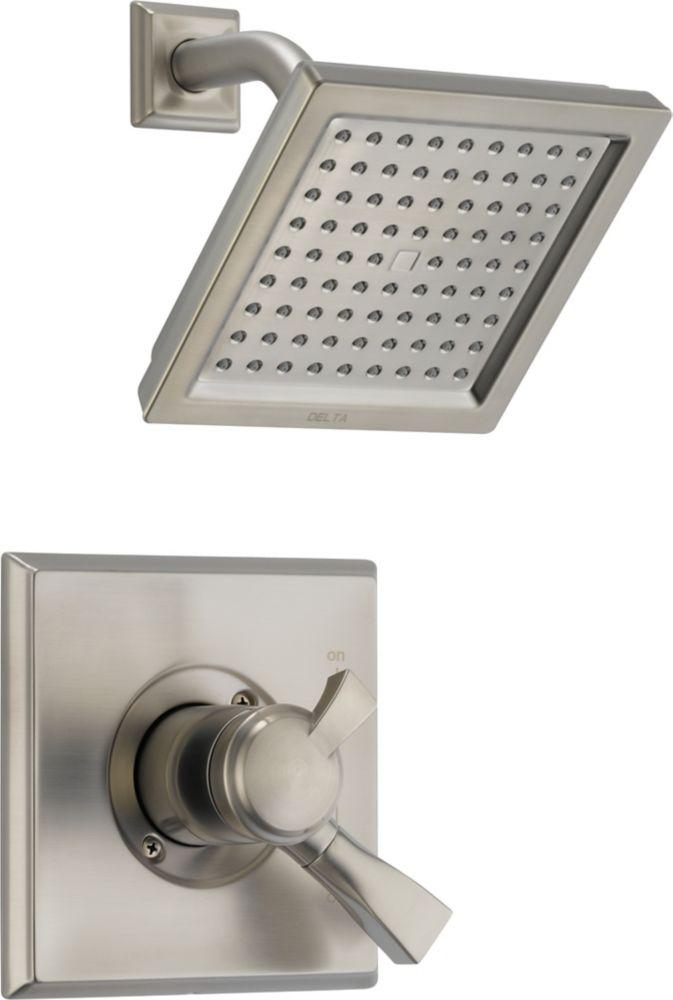 Dryden - Garniture de douche, 1manette et 1jet, Inox