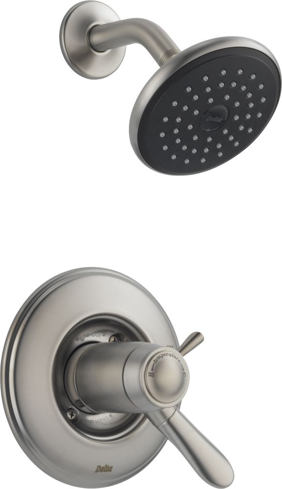 Lahara Single-Handle Thermostatic Shower Faucet in Stainless Steel
