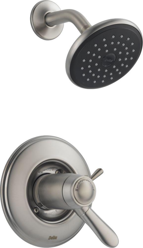 Lahara - Garniture seulement, mitigeur thermostatique de douche, Inox