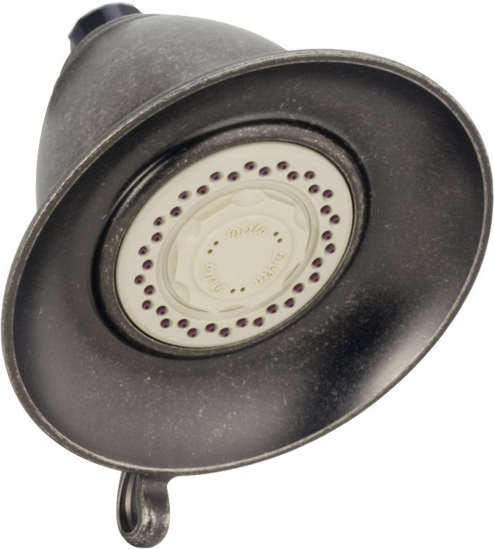 Victorian 3-Function 5 1/2-inch Touch-Clean Showerhead in Aged Pewter