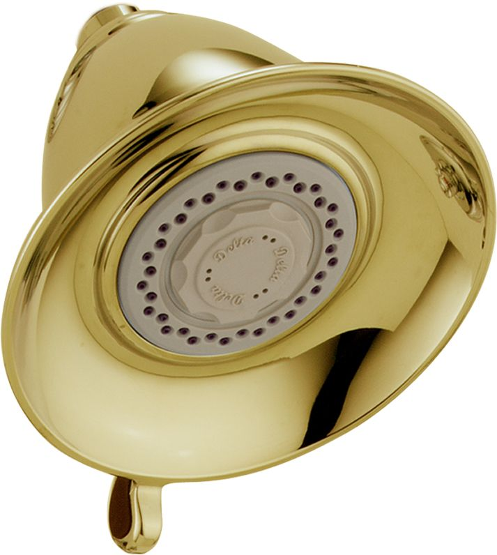 Victorian 3-Function 5 1/2-inch Touch-Clean Showerhead in Polished Brass