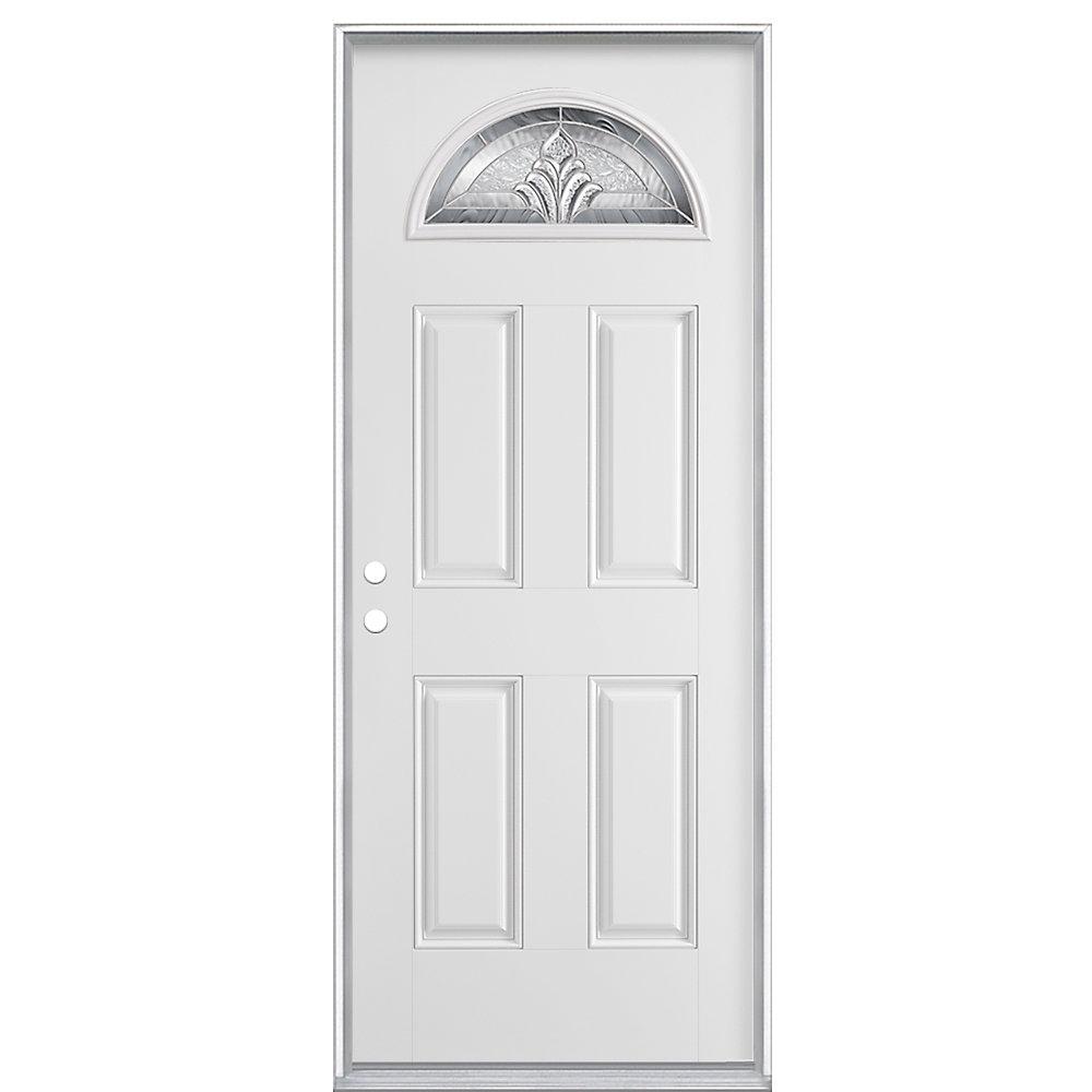 32-inch x 4 9/16-inch Providence Fan Lite Smooth Fibreglass Left Hand Door