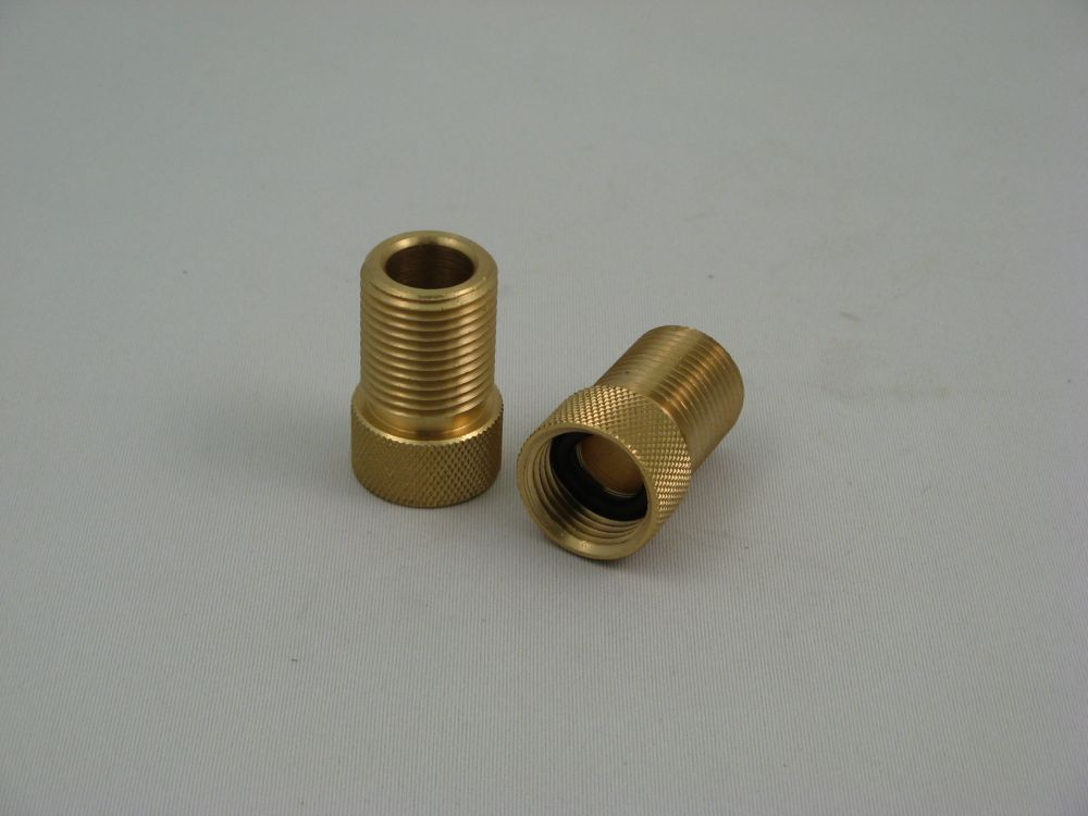 Replacement Faucet Shank Extension Solid Brass, 2 pieces, 1 inch