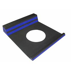 Home Decor Parking Stopper Blue - 21.5 Inches x 9.5 Inches