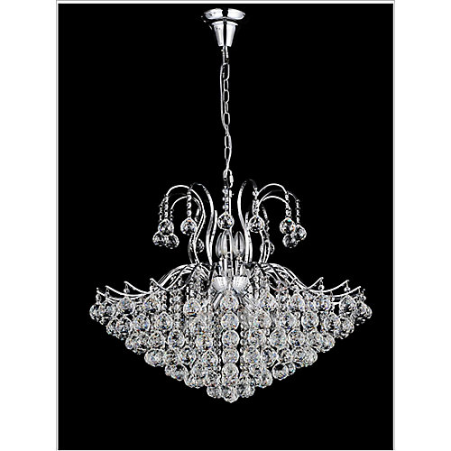 Spoke Collection 24-inch Chandelier in Chrome