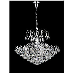 CWI Lighting Spoke Collection 24-inch Chandelier in Chrome