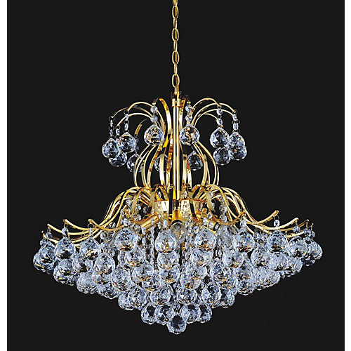 Spoke Collection 24-inch Chandelier in Gold