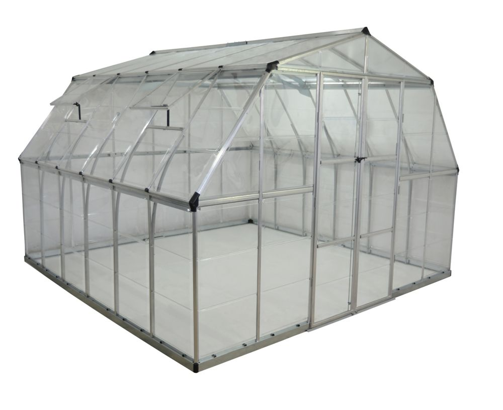 Palram Deluxe XL 12 ft. x 12 ft. Clear Greenhouse