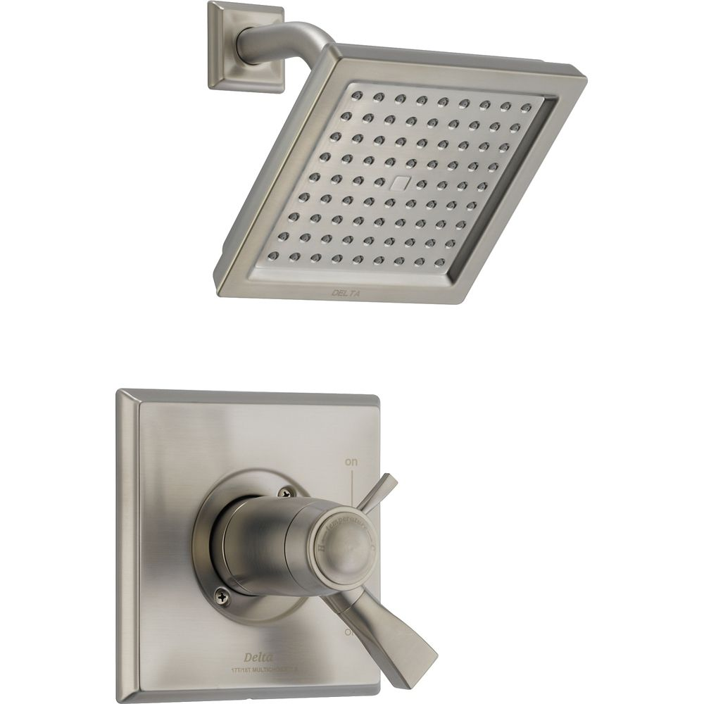 Dryden Single-Handle Single-Function Shower Faucet with Showerhead in Stainless Steel