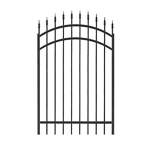Richelieu Aluminum  Gate 60 Inch x 4 Inch, Black (Hardware Not Included)