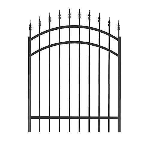 Richelieu Aluminum Gate 48 Inch x 45 Inch, Black (Hardware Not Included)