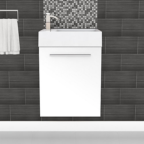 Boutique Collection 18-inch W Vanity in White