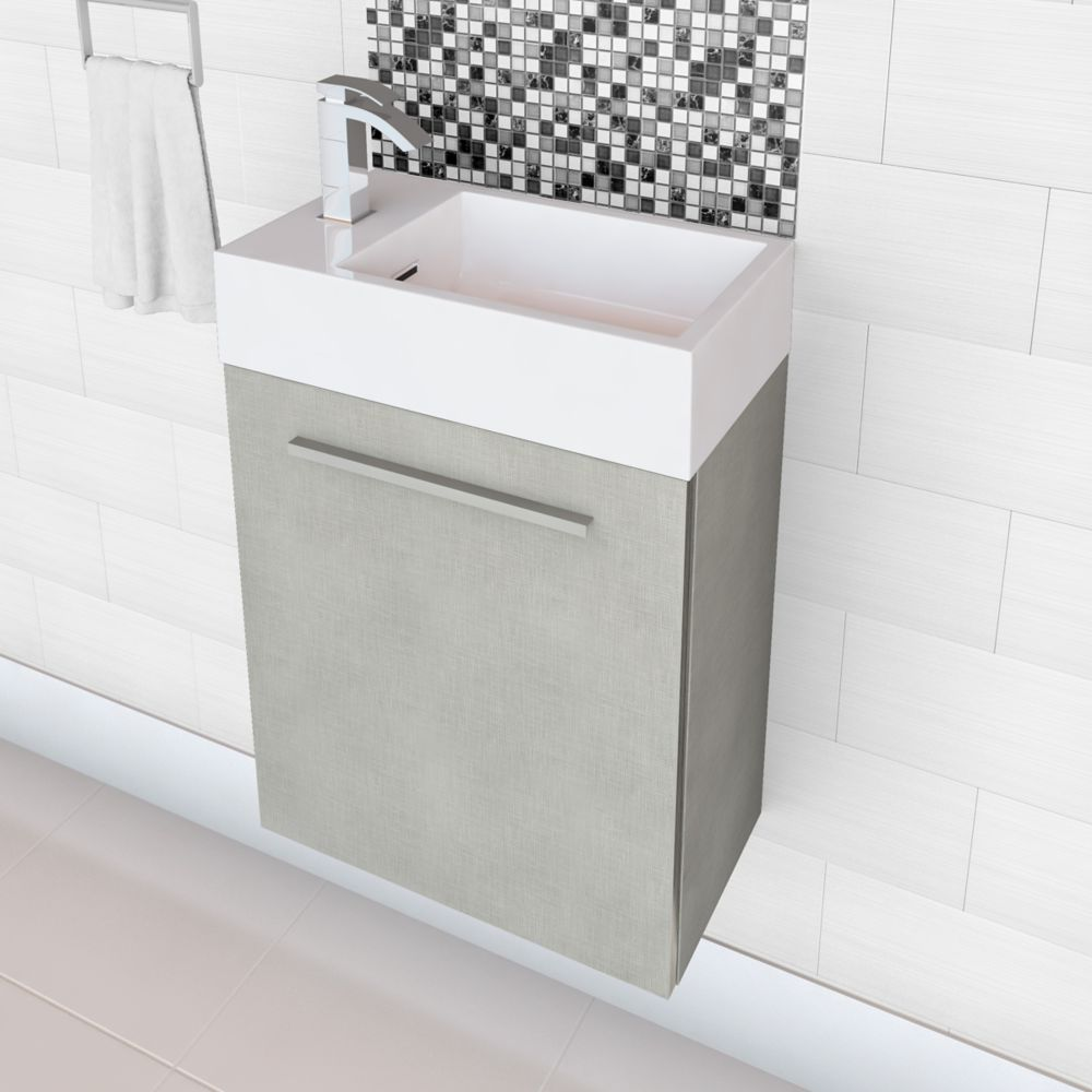 Boutique Collection 18-inch W Vanity in High Gloss Linen Finish