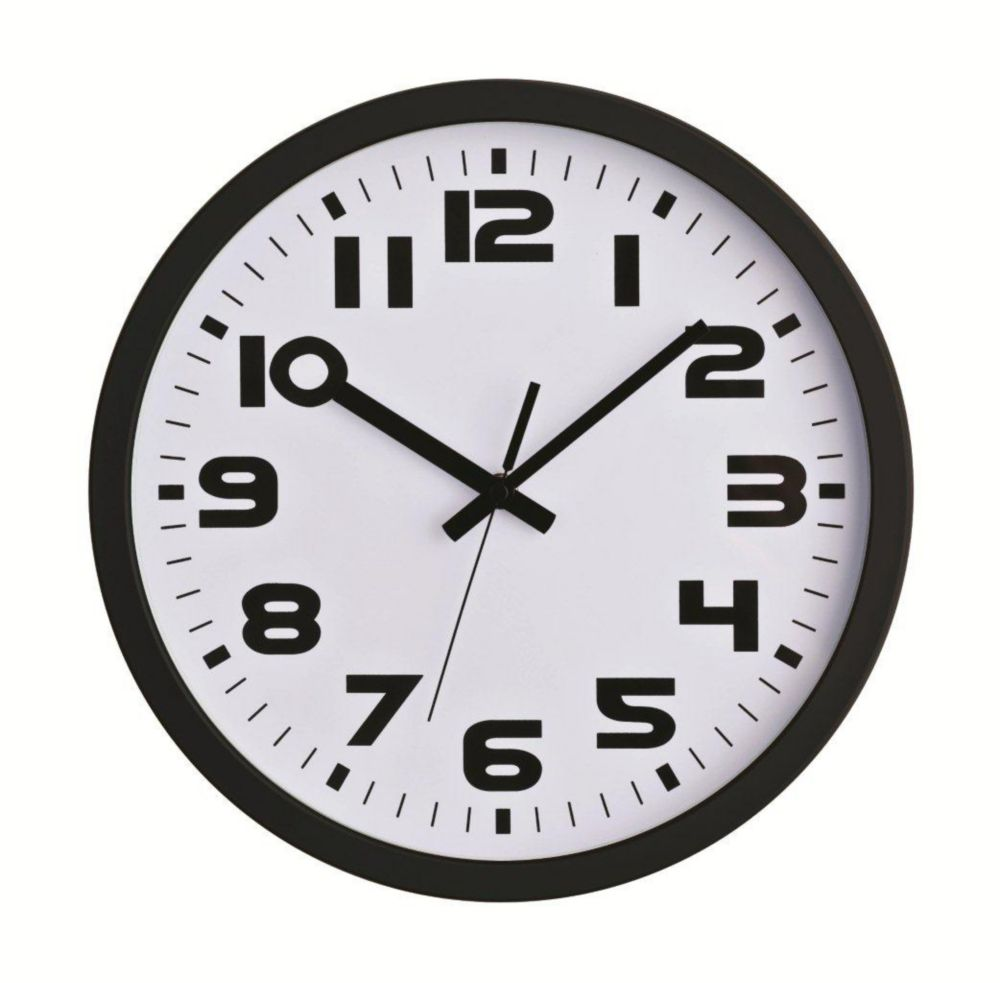 Sweep-12 inch Black Sweep Wall Clock