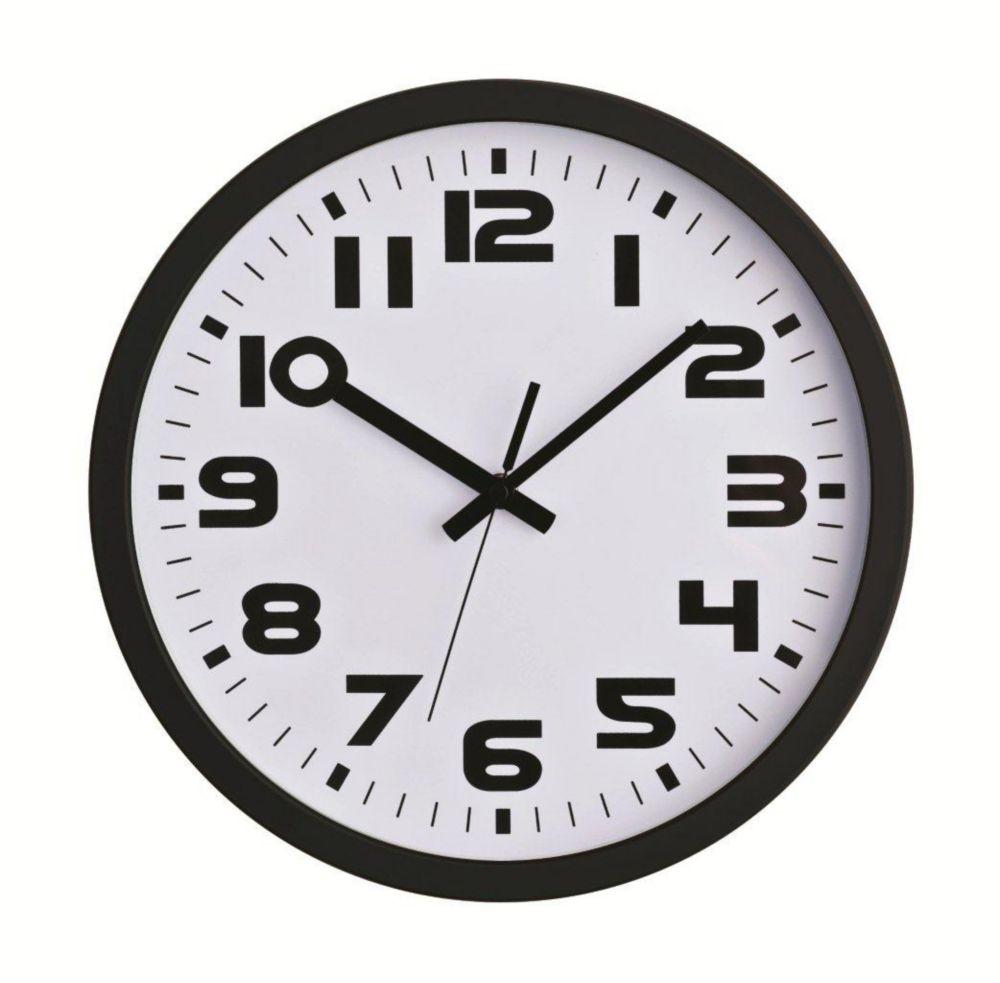 Sweep-12 inch Black Sweep Wall Clock