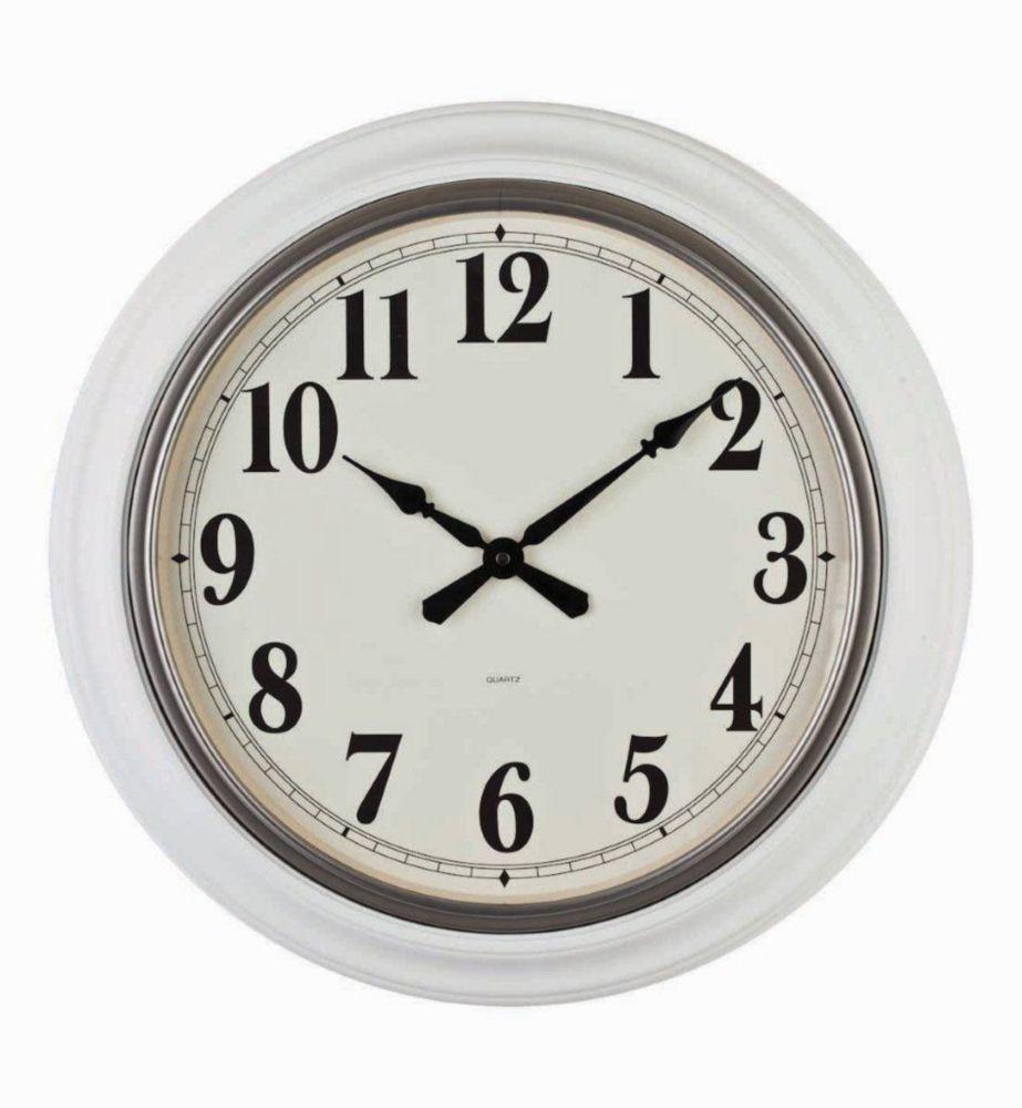 Magnus- 22 inch White Wood Wall Clock