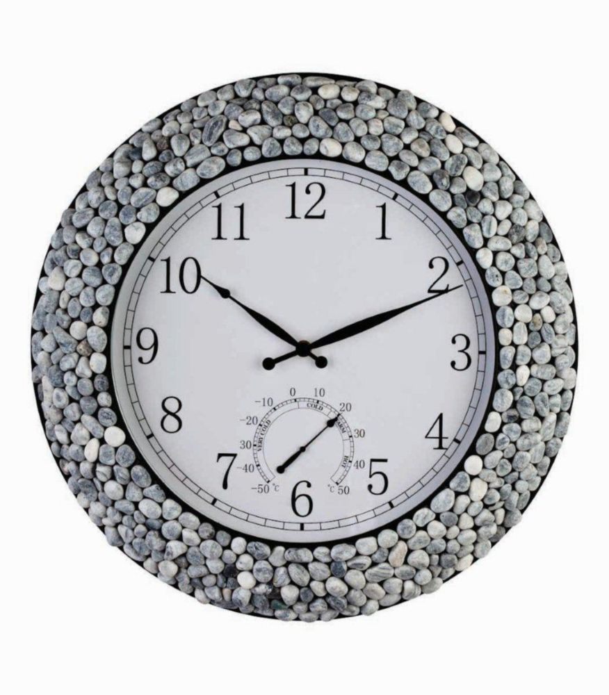 Canyon- 18 inch Pebble Frame  Indoor Outdoor Clock