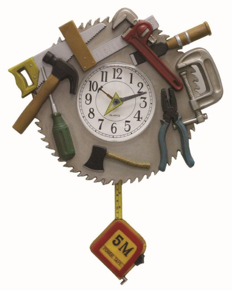 Tool Time Wall Clock