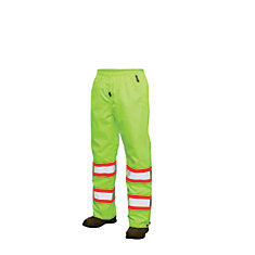 Hi-Vis Rain Pant With Safety Stripes Yellow/Green Medium