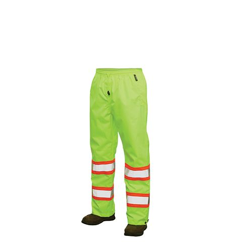 Work King Hi-Vis Rain Pant With Safety Stripes Yellow/Green 3X Large