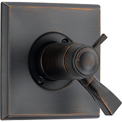 Dryden 1-Handle Thermostatic Diverter Valve Trim Kit in Venetian Bronze (Valve Not Included)