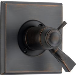 Delta Dryden 1-Handle Thermostatic Diverter Valve Trim Kit in Venetian Bronze (Valve Not Included)