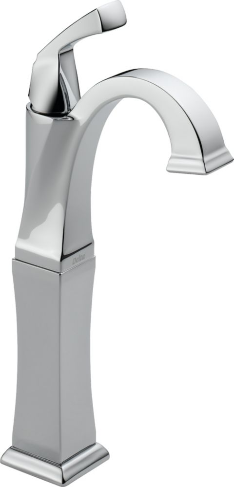 Delta Dryden Single Hole 1-Handle High Arc Bathroom Faucet in Chrome with Lever Handle
