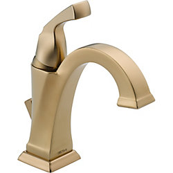 Dryden Single Hole 1-Handle High Arc Bathroom Faucet in Bronze with Lever Handle