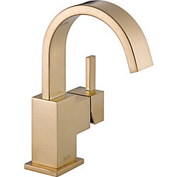 Vero Single Hole 1-Handle High Arc Bathroom Faucet in Bronze with Lever Handle