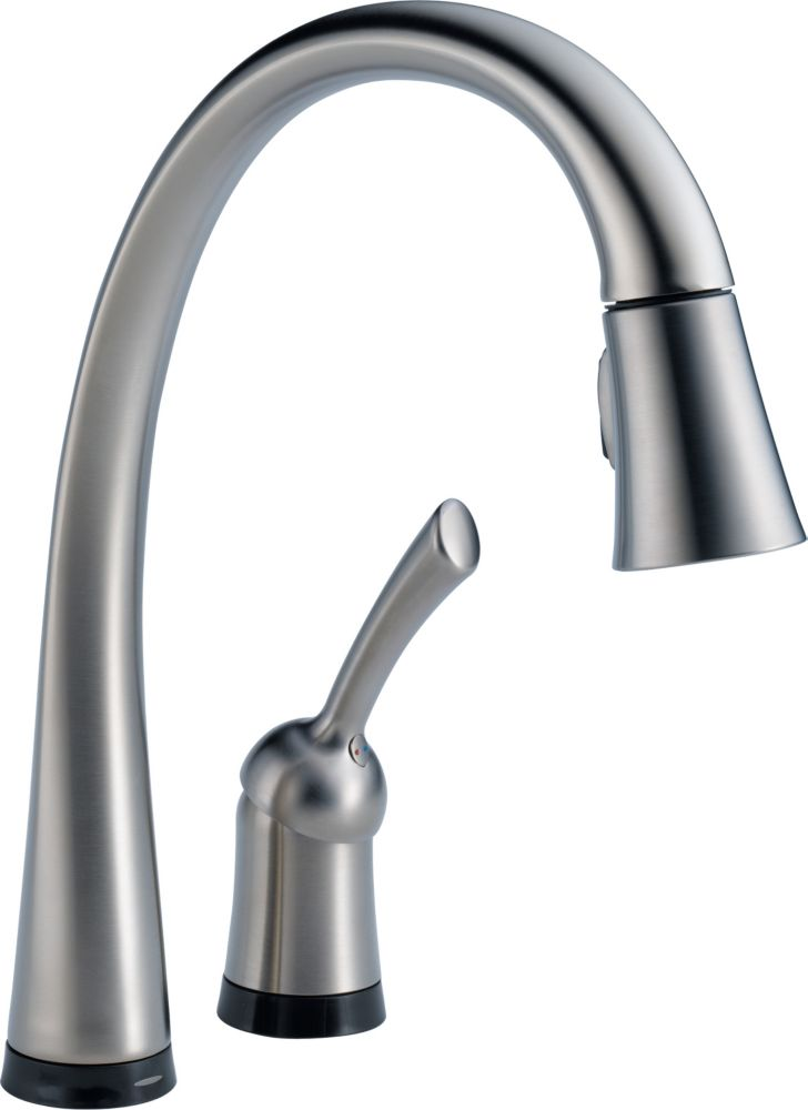 Pilar Single-Handle Pull-Down Sprayer Kitchen Faucet with Touch2O Technology in Arctic Stainless
