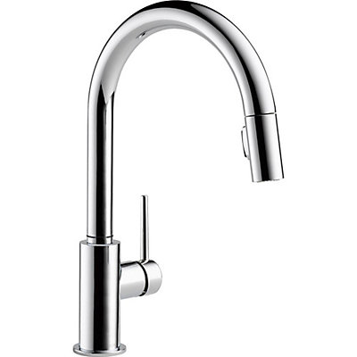 Delta Trinsic Pull Down Kitchen Faucet in Chrome | The Home Depot Canada