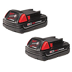 M18 18V Lithium-Ion Compact (CP) 1.5 Ah REDLITHIUM Battery (2 Pack)