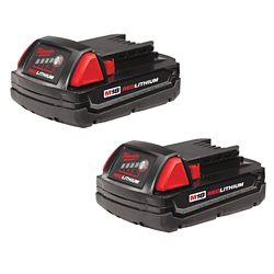 Milwaukee Tool M18 REDLITHIUM Compact Battery (Two Pack)
