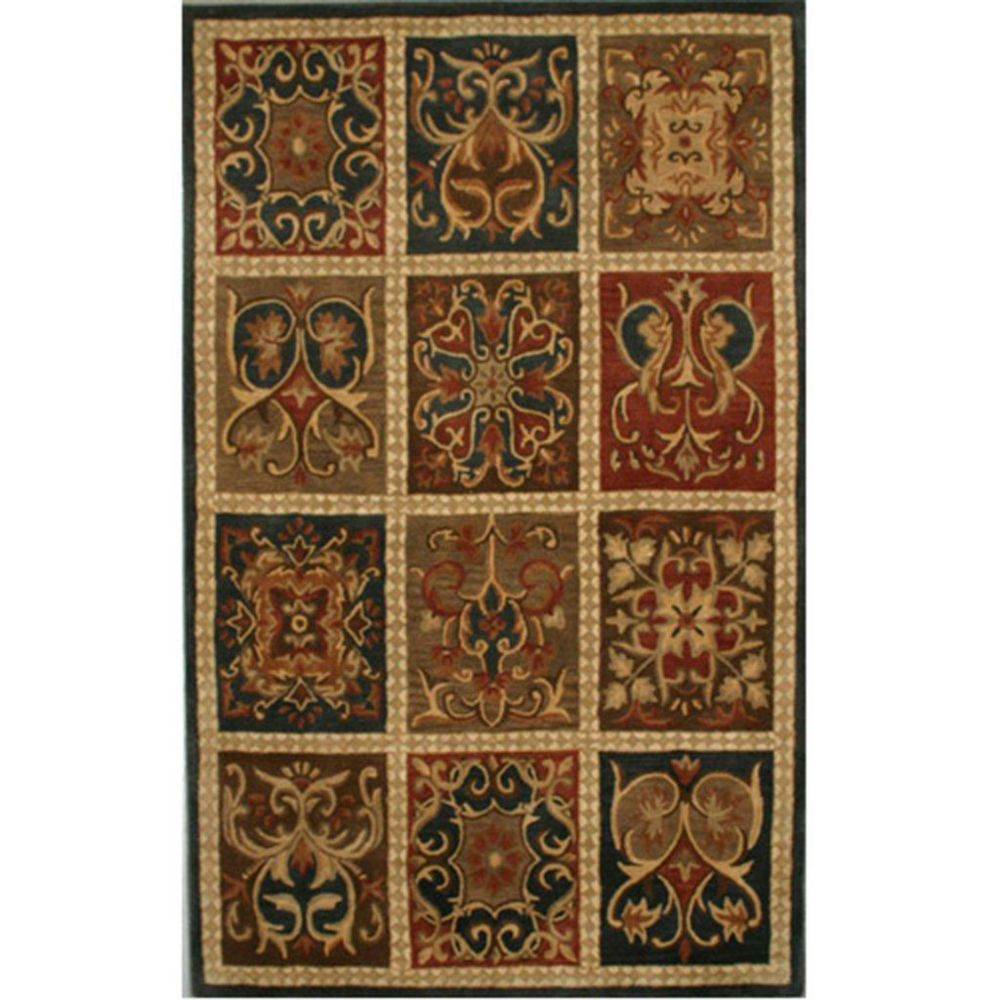Anglo Oriental Festive Brown 4 ft. 11-inch x 8 ft. Rectangular Area Rug