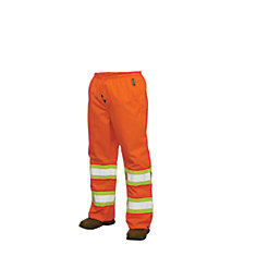 Hi-Vis Rain Pant With Safety Stripes Fluorescent Orange 2X Large