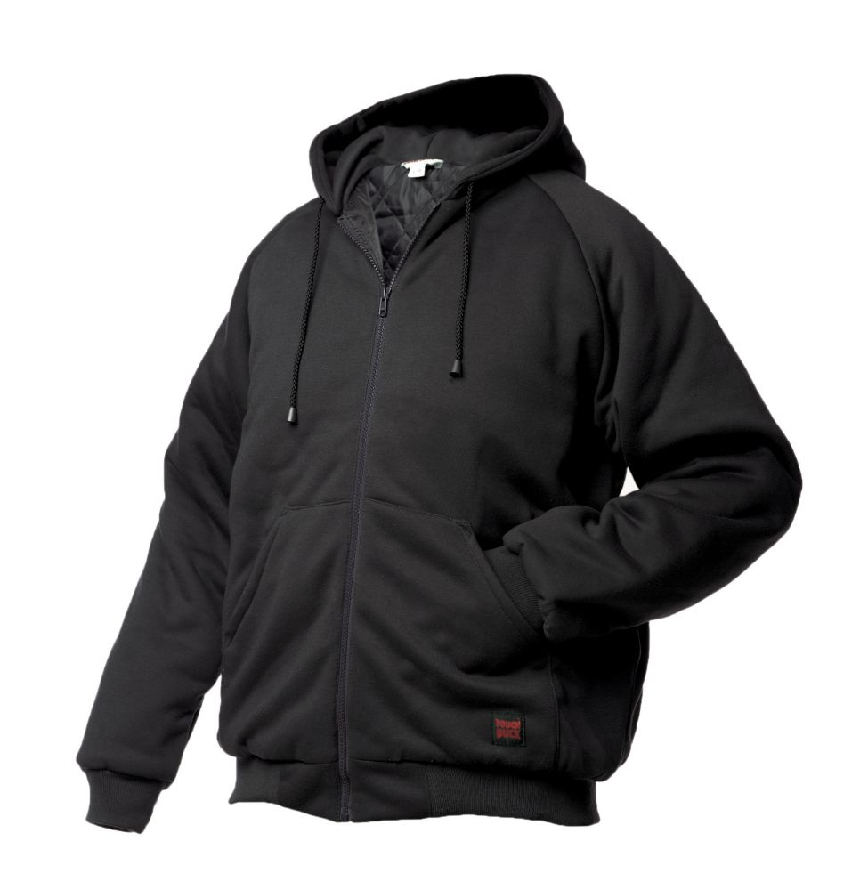 Hooded Jersey Bomber Black Large