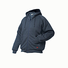 Hooded Jersey Bomber Navy Medium