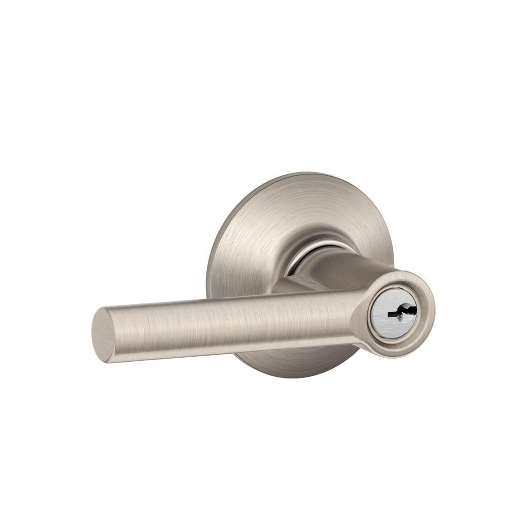 Broadway Satin Nickel Keyed Lock