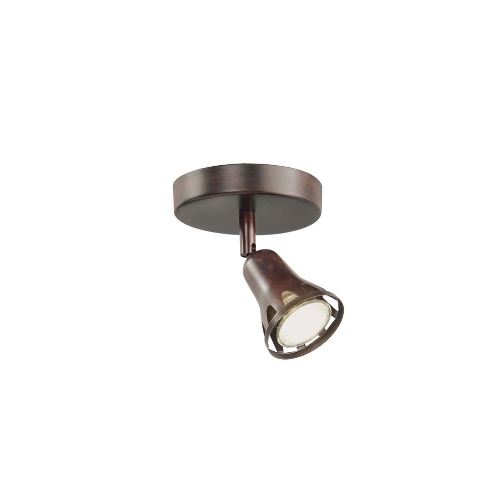 Bronze Flushmount Track Single Spot