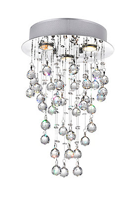 Cwi lighting 12 inch x 18 inch crystal rain drop chandelier in 12 inch x 18 inch crystal rain drop chandelier in polished chrome aloadofball Images