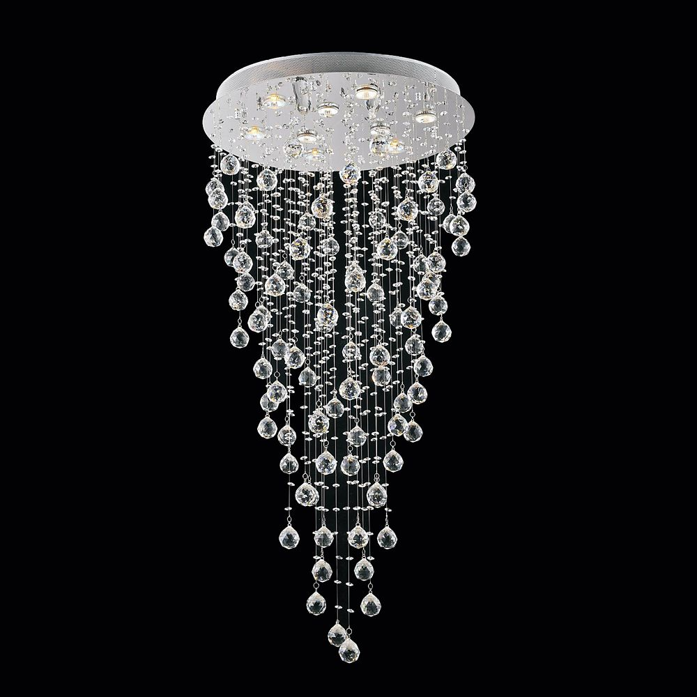 CWI Lighting Rain Drop 23.5-inch 9-Light Chandelier
