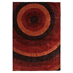 Orian Rugs Ringmaster Red 5 ft. 3-inch x 7 ft. 6-inch Indoor Contemporary Irregular Area Rug