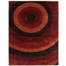 Orian Rugs Ringmaster Red 7 ft. 10-inch x 10 ft. Indoor Contemporary Rectangular Area Rug