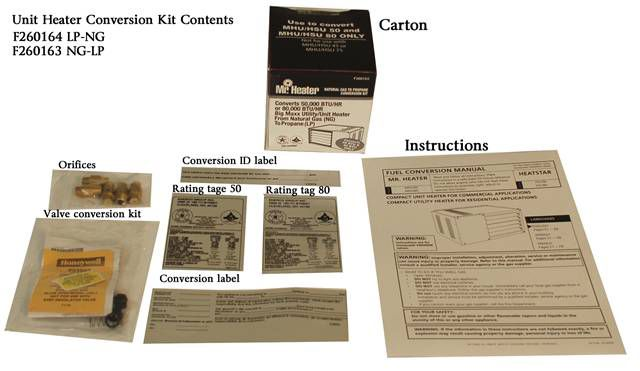 Fuel Conversion Kit - Natural Gas to Propane