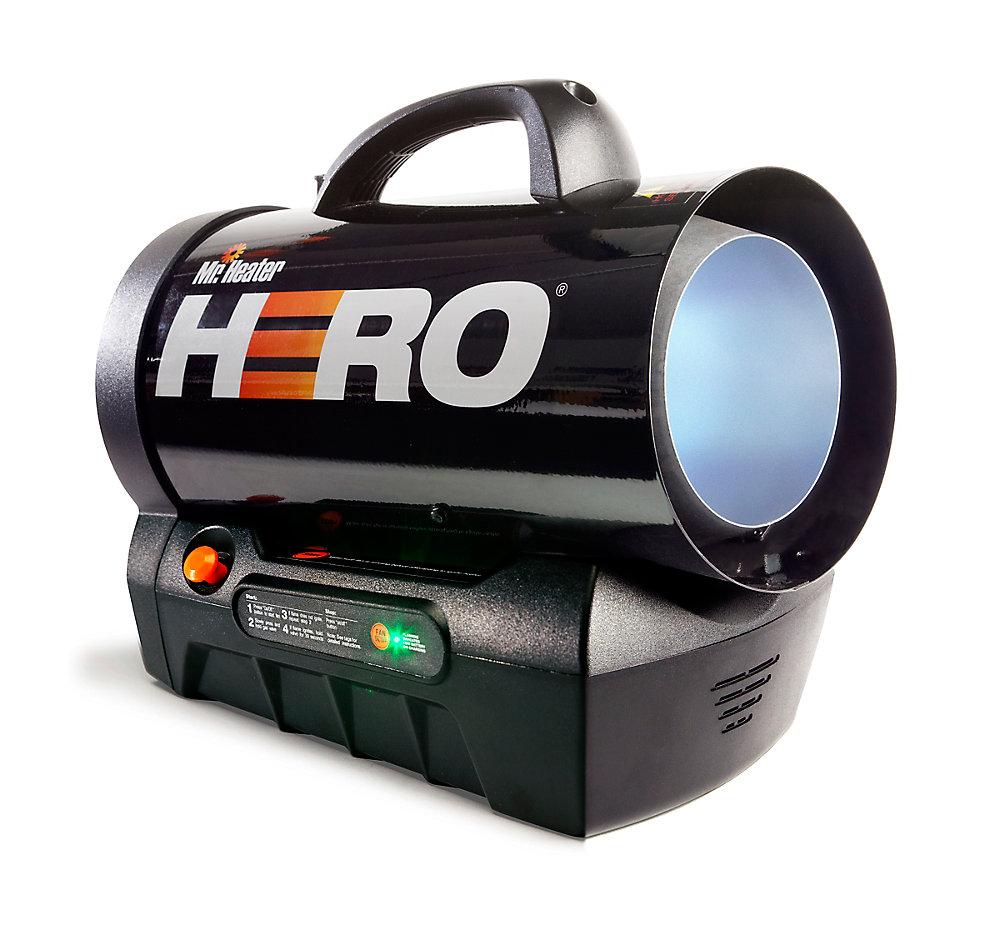 Forced Air Propane Heater >> Hero Cordless Forced Air Propane Heater 35 000 Btu Hr