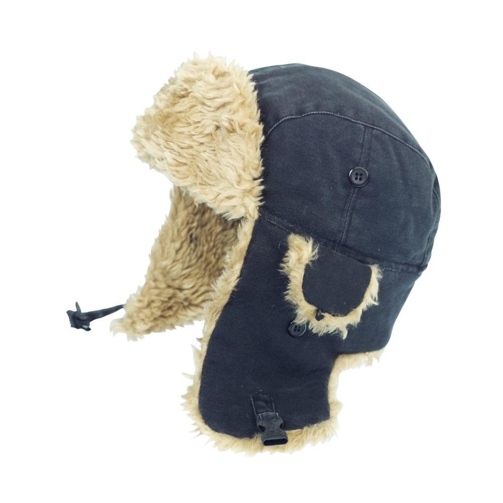 Chapeau daviateur en toile� noir p